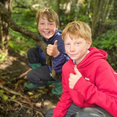 Year 6 Forest School - Egg Houses