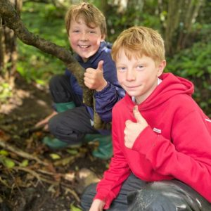 Leweston Prep pupils in Forest School
