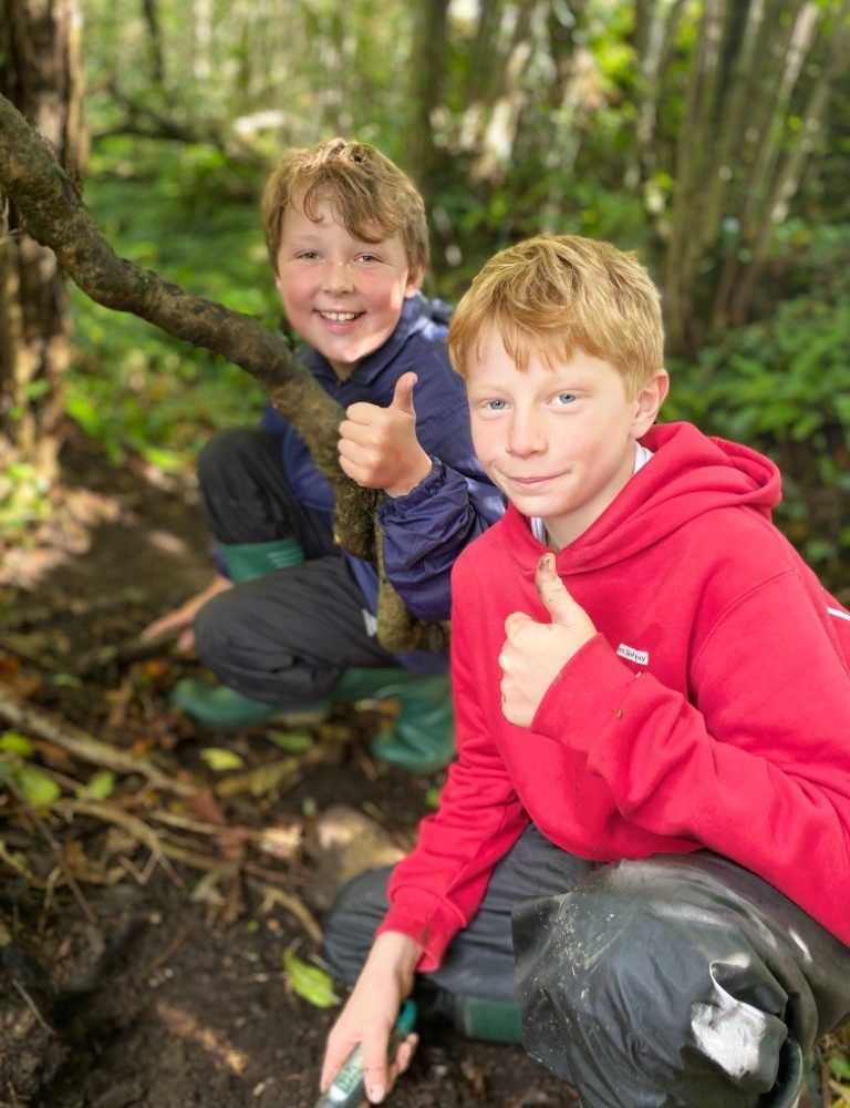 Leweston Prep pupils in Forest School