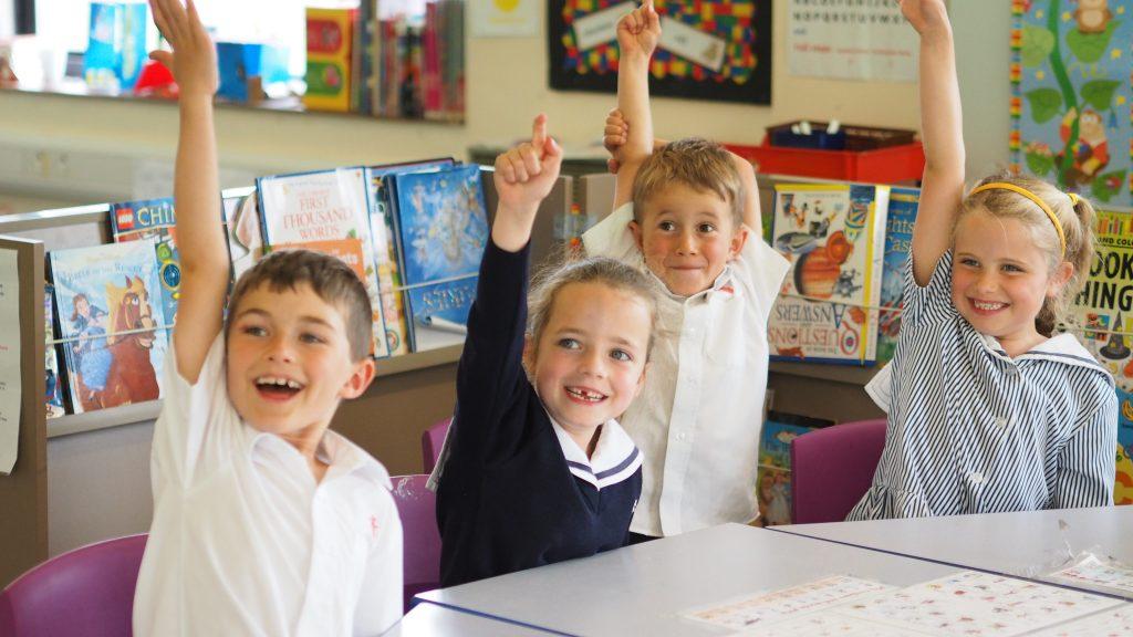 Leweston Prep Pupils in Classroom