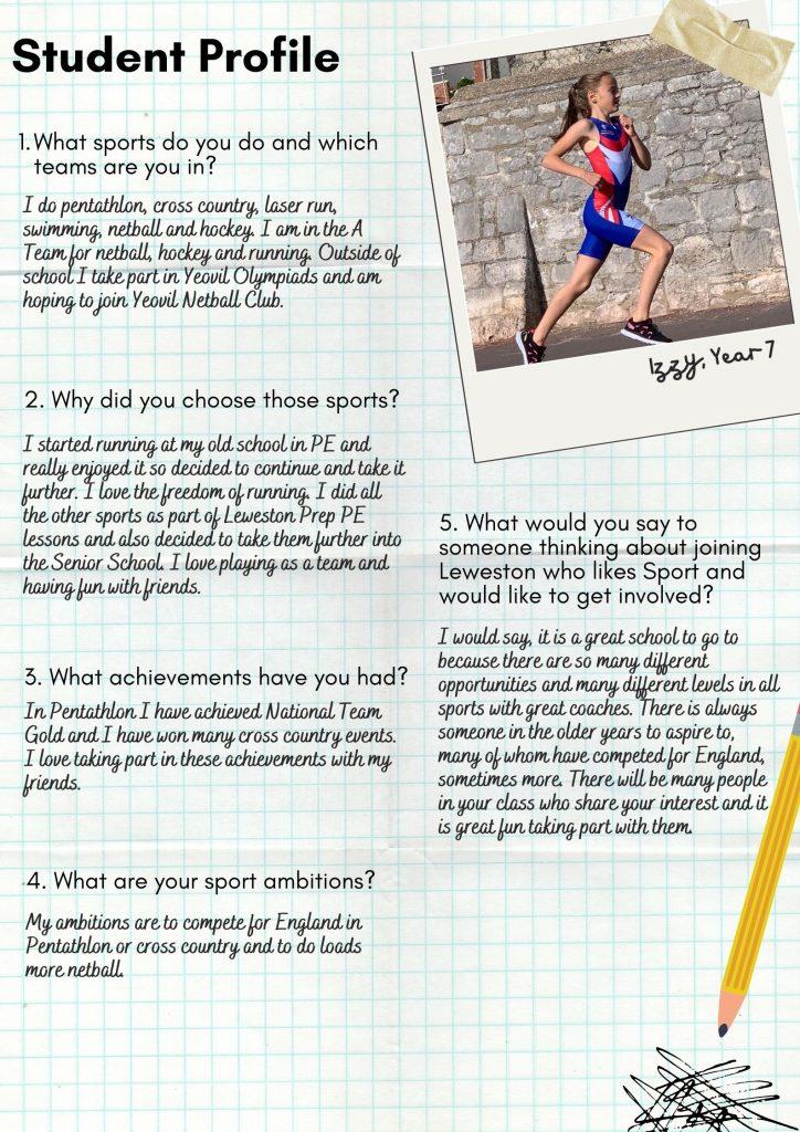 Leweston Sport Student Profile