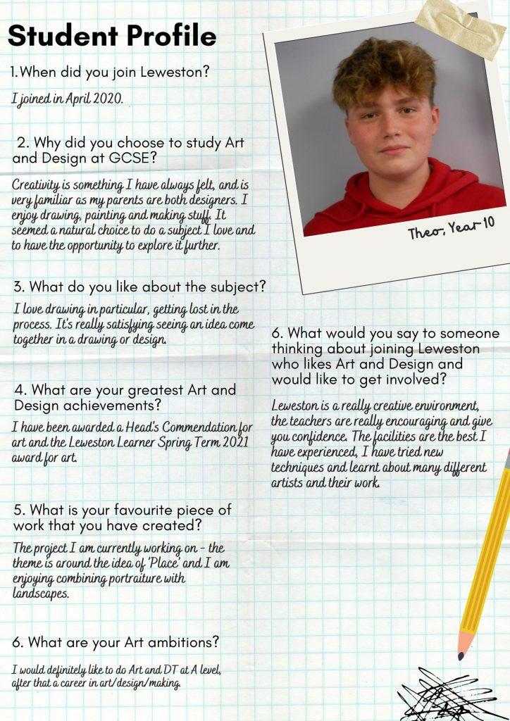 Leweston Art Student Profile